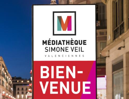 Un nouveau logo pour la médiathèque de Valenciennes intégralement repensée